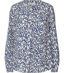 blouse met print singh  blauw