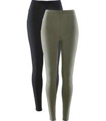 leggings elasticizzati (pacco da 2) (verde) - bpc bonprix collection