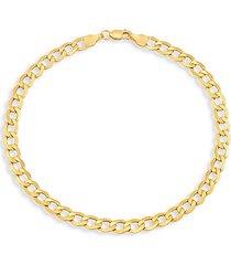 14k yellow gold light beveled curb chain bracelet