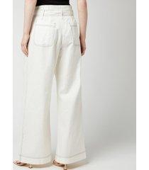 baum und pferdgarten women's numie trousers - snow white - eu 40/uk 12
