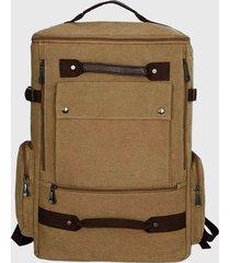 mochila vertical viajera marrón millam