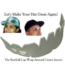 1pk wrap around cap insert| fitted hat liner| hat shaper cleaning aide| snapback