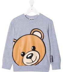 moschino crew neck sweatshirt w/teddy