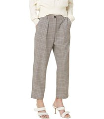 pantaloni chino con fantasia check