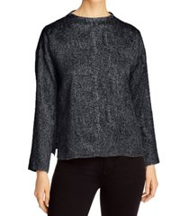 eileen fisher organic printed drop-shoulder top, regular & petite sizes