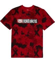 ecko unltd men's sponge camo crewneck t-shirt