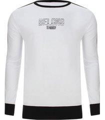 camiseta manga larga belong color negro, talla m