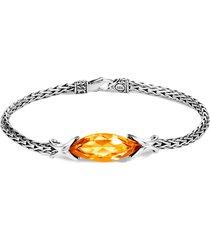 'asli classic chain' citrine silver bracelet