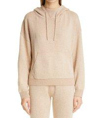 women's john elliott two-tone cashmere blend hoodie, size 3 - beige