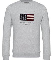 barry organic cotton sweatshirt sweat-shirt trui grijs lexington clothing