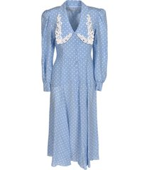 alessandra rich dotted print long dress