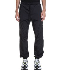 marcelo burlon bomb cross jogg pants in black nylon