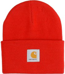 carhartt hat logo hats in red acrylic