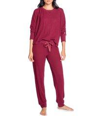women's pj salvage ski pajamas, size xxl - red