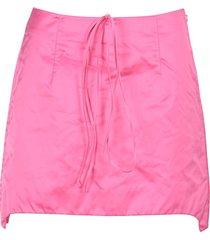 helmut lang satin mini skirt