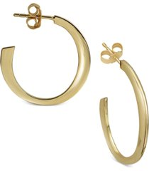 argento vivo flat hoop earrings