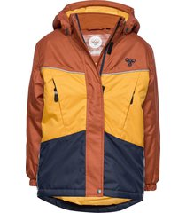 hmlconrad jacket parka-jas multi/patroon hummel