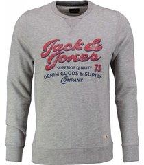 jack & jones zachte grijze sweater valt kleiner
