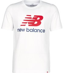 t-shirt korte mouw new balance stacked logo tee