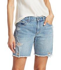 joe's jeans women's the bermuda distressed shorts - shasta - size 25 (2)