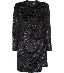 a.l.c. wrap short dress - black