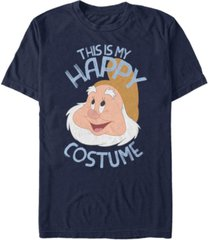 disney men's snow white and the seven dwarfs happy halloween costume short sleeve t-shirt