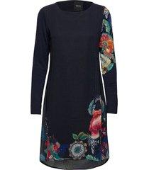 vest siena jurk knielengte blauw desigual