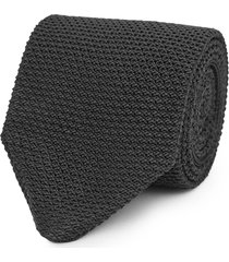 reiss jackson - silk knitted tie in black, mens