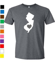 new jersey shirt love home heart t-shirt funny humor state apparel college