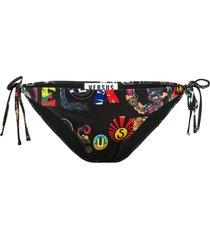 versus patchwork print bikini bottoms - black