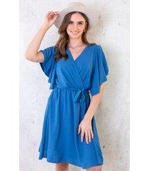 florence jurk jeansblauw