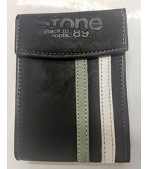 billetera negra stone