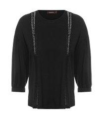 camiseta feminina olivia - preto