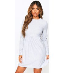 crew neck sweat smock dress, grey marl