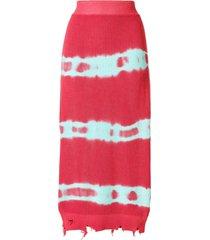 msgm tie dye jersey skirt - pink