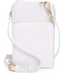 mali + lili nylon phone crossbody bag - white