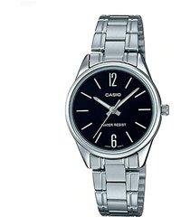 reloj casio dama elegante ltp-v005d-1b color plateado