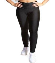 calça legging feminina luma ventura preto metalizado