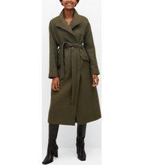 mango women's belted wool coat