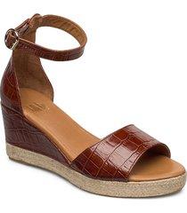 espadrilles 4332 sandalette med klack espadrilles brun billi bi