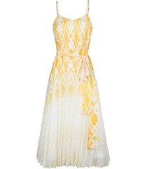 rachel rachel roy printed lurex midi dress