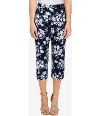 alfred dunner women's missy savannah silky floral capri pants