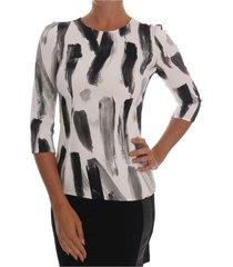 gestreepte printed blouse