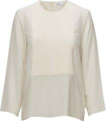pleat blouse blouse lange mouwen crème filippa k