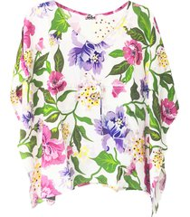 poncho little girl spring flower