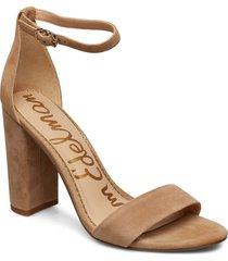 yaro sandal med klack beige sam edelman