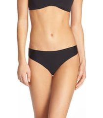 women's honeydew intimates skinz hipster thong, size medium - black