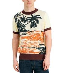 collectif men's scott hawaii jacquard sweater
