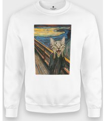 bluza cat scream paint