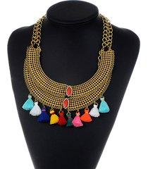 collar dorado flecos sasmon cl-13267